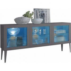 """Sideboard mit Glaseinsatz """"Zela"""", 3-türig, mit Füßen, Breite 184 cm"""