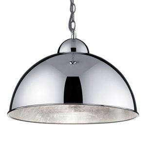 EEK A+, LED-Pendelleuchte Romino - Metall - 3-flammig - Chrom, Trio