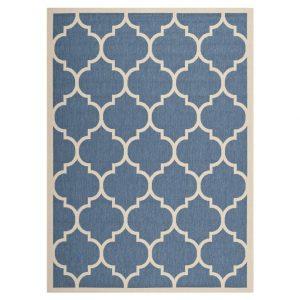 In-/Outdoorteppich Monaco - Blau/Beige - Maße: 160 x 231 cm, Safavieh