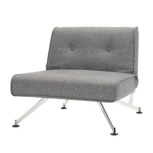 Sessel Clubber - Webstoff - Grau - Ohne Armlehnen, Innovation Möbel