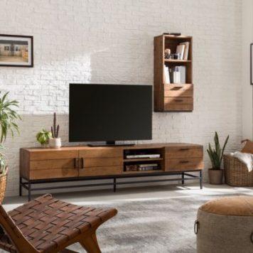 TV-Lowboard Grasby III Altholz Pinie
